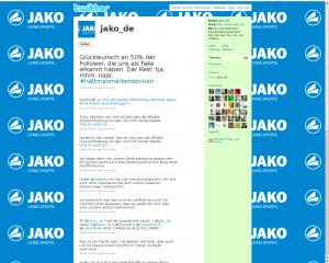 Twitter Fake Account von JAKO