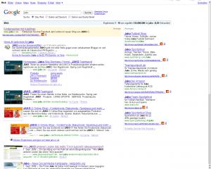 Man beachte Platz 5 der Google-Suche