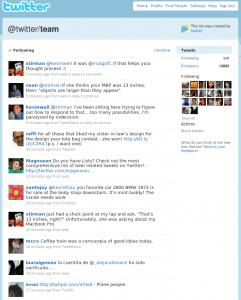 Öffentliche Liste vom Twitter Team