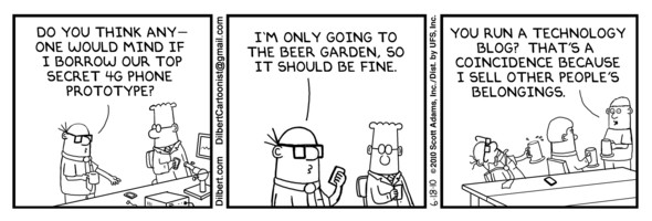 Dilbert Comic #1 zum verlorenen Apple iPhone 4G