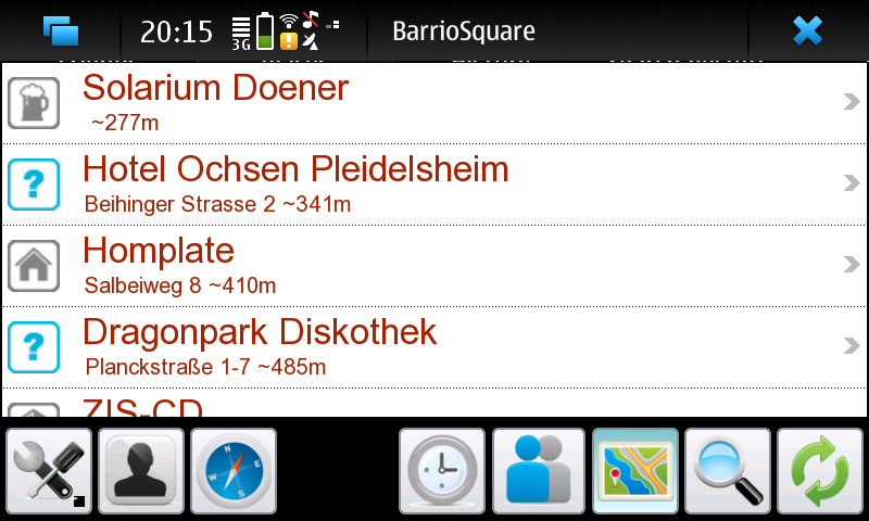 BarrioSquare Nokia N900 Screenshot