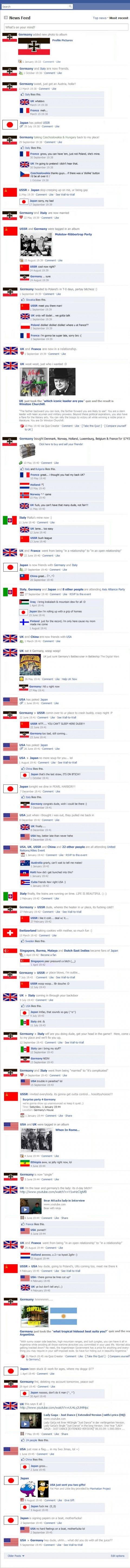 Geschichte einmal anders: der Zweite Weltkrieg auf Facebook