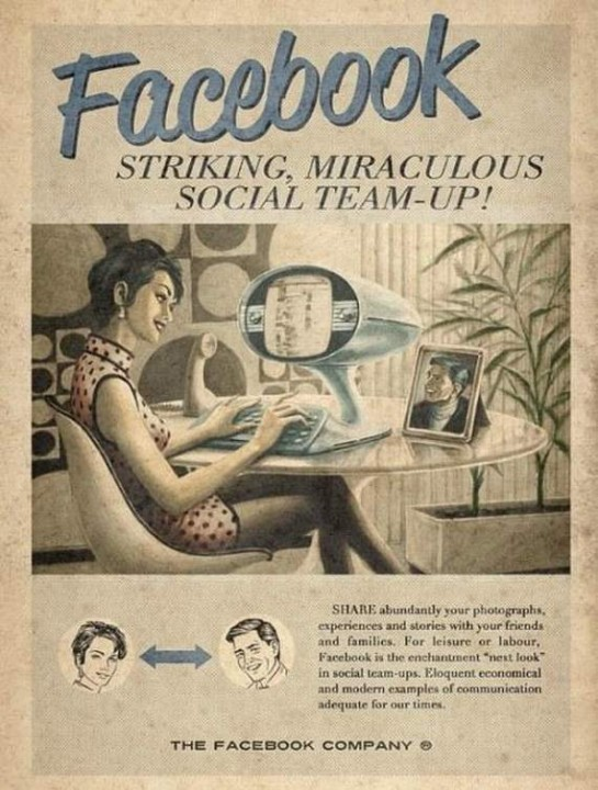 Facebook Vintage Ad
