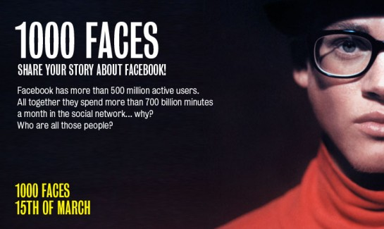 1000 Faces, Facebook Experiment
